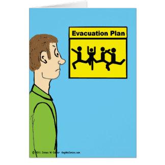 """""""Evacuation Plan"""" Card"""