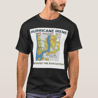 Evacuation Zones Hurricane Irene NYC Shirt