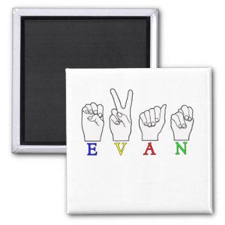 EVAN ASL FINGERSPELLED NAME SIGN FRIDGE MAGNETS