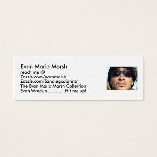Evan Mario Marsh, reach m... Mini Business Card