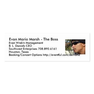 Evan Mario Marsh - The Boss... Business Card Templates