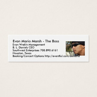 Evan Mario Marsh - The Boss... Mini Business Card