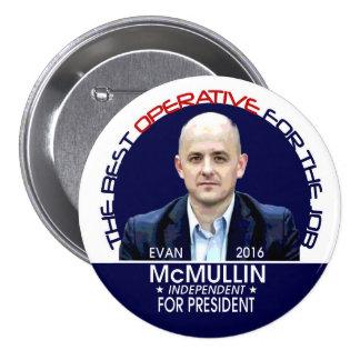 Evan McMullin 2016 Pin Redondo De 3 Pulgadas