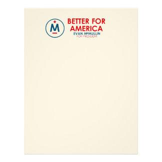 Evan McMullin - Better for America Letterhead
