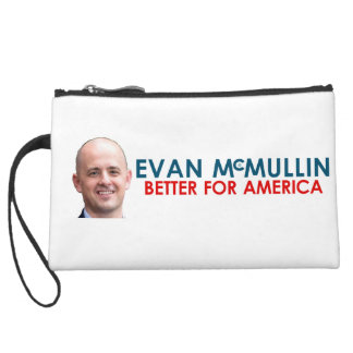 Evan McMullin - Better for America Suede Wristlet Wallet