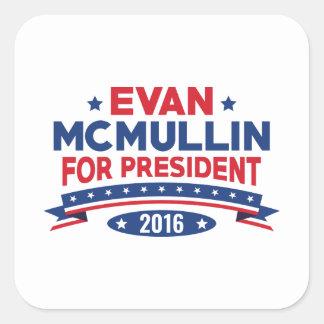 Evan McMullin For President Square Sticker