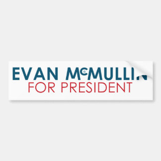 Evan McMullin - It's never too late Bumper Sticker