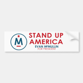 ¡Evan McMullin - levántese América! Pegatina Para Auto
