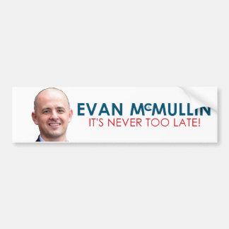 Evan McMullin - nunca es demasiado atrasado Pegatina Para Auto