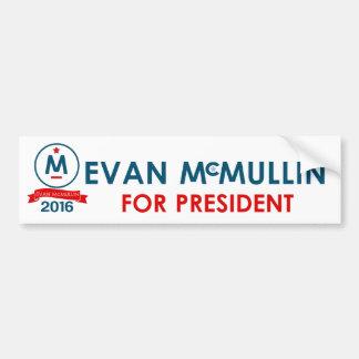Evan McMullin para el presidente Pegatina Para Auto