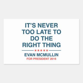 Evan McMullin Quote Rectangular Sticker