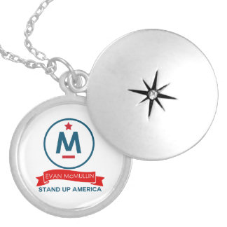 Evan McMullin - Stand up America! Locket Necklace