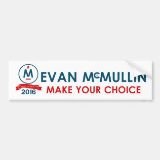 Evan McMullin toma su decisión Pegatina Para Auto