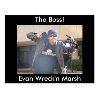 Evan Wreck'n the Man in a leather jack and skull c Postcard