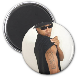 Evan Wrec'n and his tats 2 Inch Round Magnet