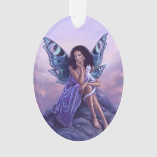 Evanescent Fairy & Dragon Acrylic Oval Ornament