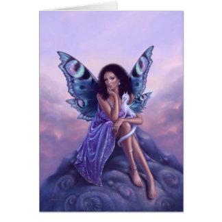 Evanescent Fairy & Dragon Art Greeting Card