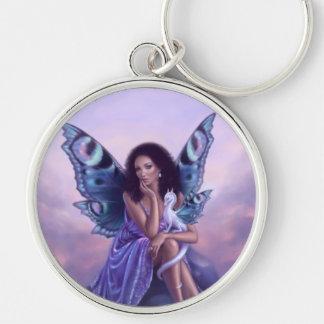 Evanescent Fairy & Dragon Art Premium Keychain