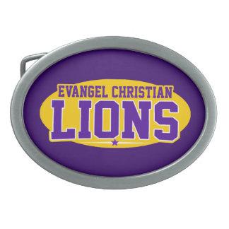 Evangel Christian Academy; Lions Oval Belt Buckle