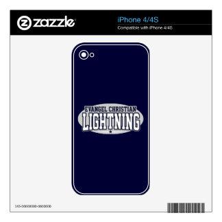 Evangel Christian High School; Lightning Skin For The iPhone 4