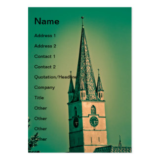 Evangelic church tower large business cards (Pack of 100)