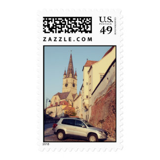 Evangelic church tower stamps
