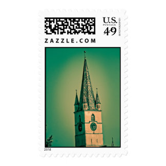 Evangelic church tower postage