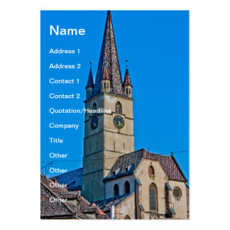 Evangelic church tower, Sibiu Large Business Cards (Pack Of 100)