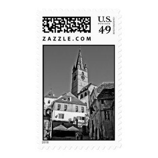 Evangelic church tower, Sibiu Stamp