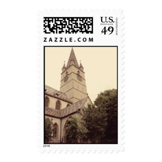 Evangelic church tower, Sibiu Postage Stamp