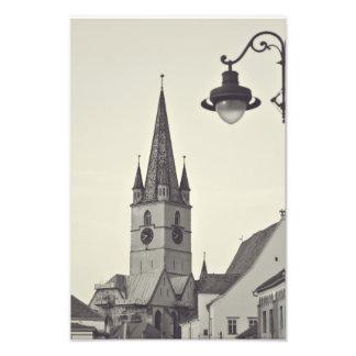 Evangelical church tower, Sibiu Photo Print