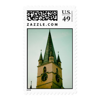 Evangelical church tower, Sibiu Stamps