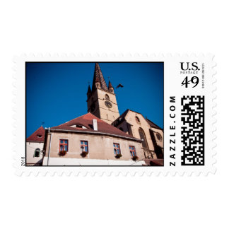 Evangelical church tower, Sibiu Stamp