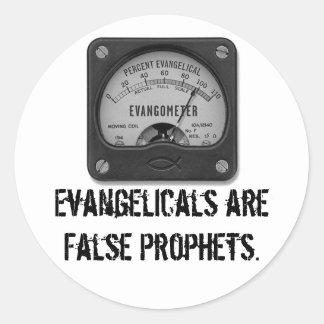 Evangelicals are False Prophets Classic Round Sticker