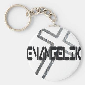 EvangeliK Noir sur croix métal Keychain