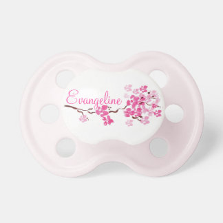 """""""Evangeline"""" Personalized Name Blossom Pacifier"""
