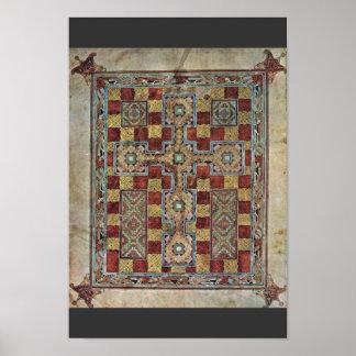Evangelios de Lindisfarne de la escena: Página de Póster