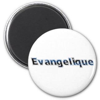 Evangélique Bleu noir 2 Inch Round Magnet