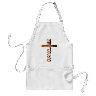 Evangélique en croix aspect braise adult apron