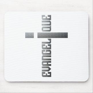 Evangélique en croix aspect métal mouse pad