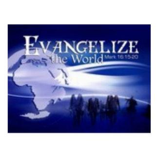 evangelise the world postcard