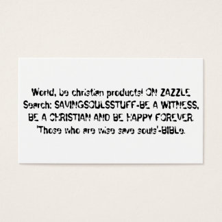 Evangelism cards- to be a witness business card