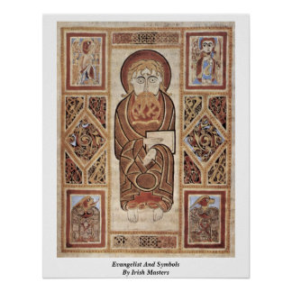 Evangelist And Symbols By Irish Masters Poster
