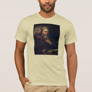Evangelist Mathew and the Angel by Rembrandt T-Shirt