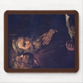 Evangelista Matthew y el ángel de Rembrandt Mouse Pads