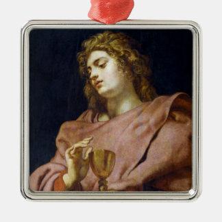 Evangelista Peter Paul Rubens de St. John Adorno Navideño Cuadrado De Metal