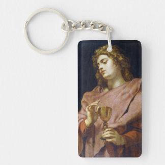 Evangelista Peter Paul Rubens de St. John Llavero Rectangular Acrílico A Doble Cara