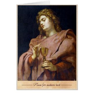 Evangelista Peter Paul Rubens de St. John Tarjeta