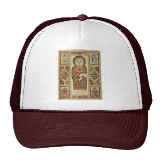 Evangelista y símbolos de Irischer Meister (el mej Gorra