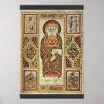 Evangelista y símbolos de Irischer Meister (el mej Póster